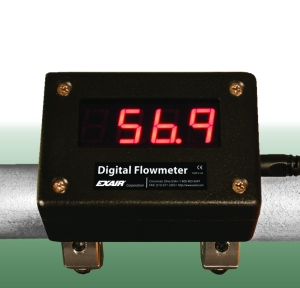 "Available for a wide range of SCH40 Iron or Type ""L"" Copper, EXAIR Digital Flowmeters are quick to install and easy to operate."