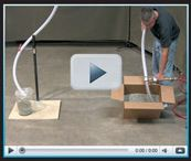 Click on the photo to see a great example of the simplicity of an EXAIR Line Vac Air Operated Conveyor system in this video.