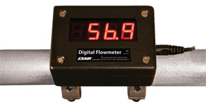 "EXAIR Digital Flowmeters are available for iron pipe up to 6"", and copper pipe up to 4""."
