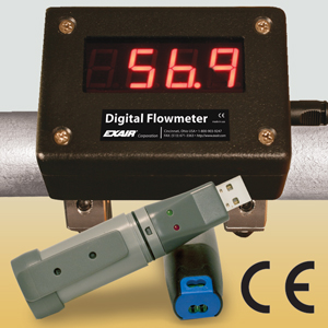 EXAIR's Digital Flowmeter w/ USB Data Logger