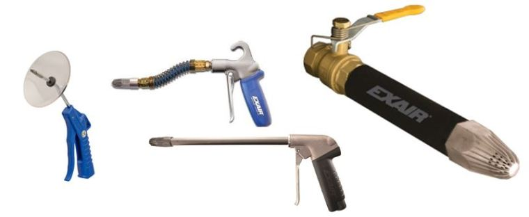 Left-right: Precision, Soft Grip w/Stay Set Hose, Heavy Duty w/Rigid Extension, & Super Blast Safety Air Guns. With so many to choose from, we've got the one you're looking for.