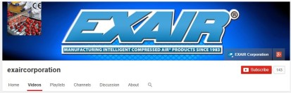 EXAIR Youtube header