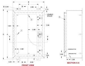 NEMA 4X Cabinet Dimensions