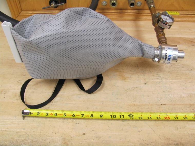 A small Line Vac & Vac-u-Gun Filter Bag make for a quick, compact & convenient debris collection system.