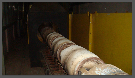 Cylinders travelling through chamber
