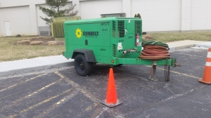 A Rental Tow Behind Air Compressor