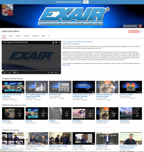 The EXAIR Corporation YouTube Channel
