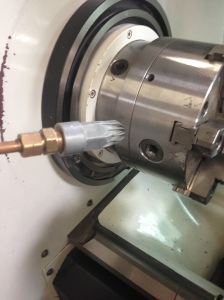 EXAIR Model 1100 Super Air Nozzle installs easily on copper lines, with a simple compression adapter.