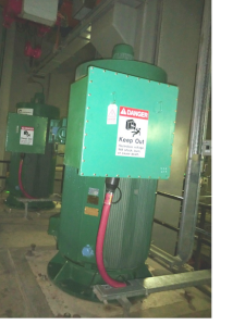Overheating electrical enclosure at Kuwaiti sewage station