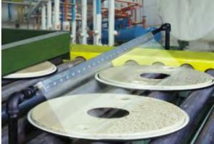 SAK drying parts on conveyor