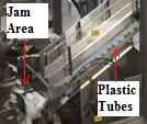 Jamming Area of Plastic Tubes