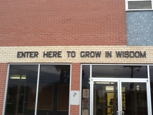 A Great Message For School. (Not On Our Schools)