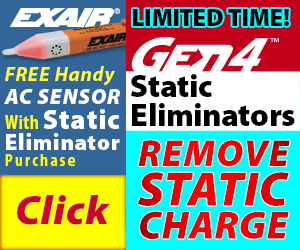 EXAIR's Static Eliminator Promotion