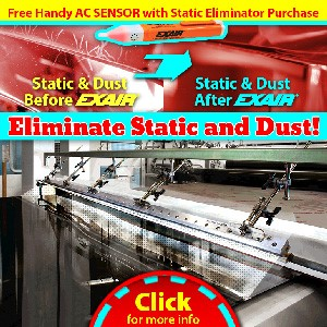 EXAIR Static Eliminator Promotion